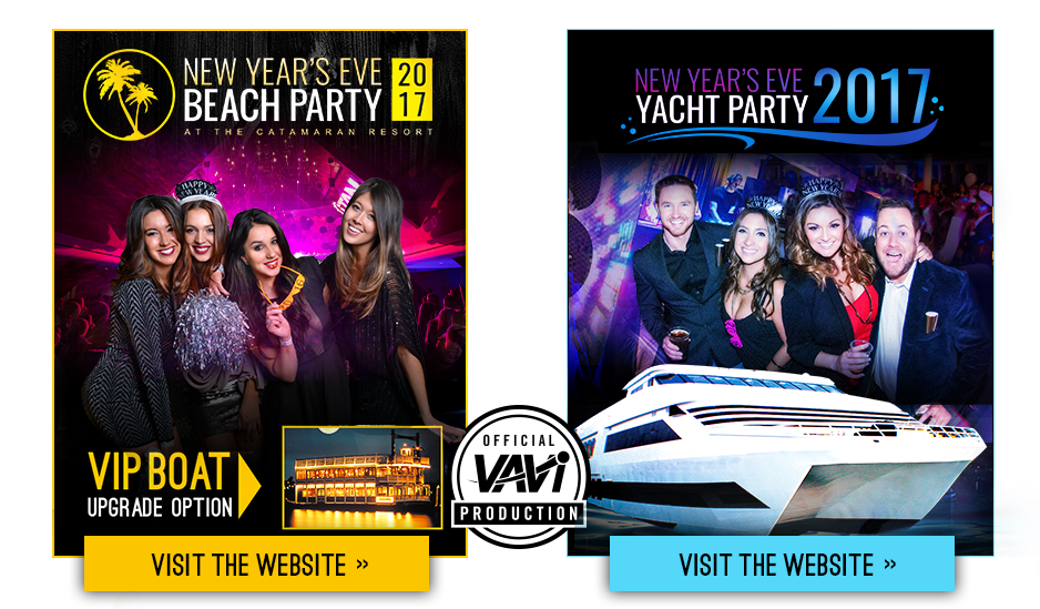 New Year's Eve Yacht and Beach Party